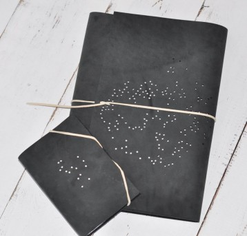 Constellation Leather Sketchbook - Mini Sketchbook & Sketchbook - Blue Sky Papers