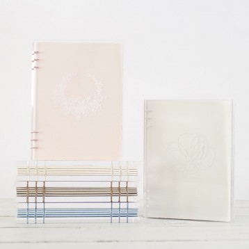 Etched Acrylic Guest Book - have it personalized with your own design or one of ours! - by Blue Sky Papers