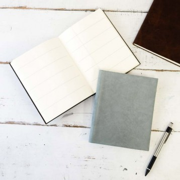 Leather Bullet Journal Notebook - free with non-prompted bullet pages- by Blue Sky Papers
