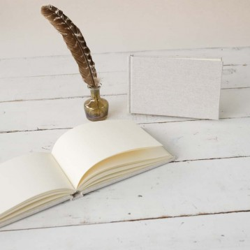 Linen Guest Book - Perfect for weddings or rental homes - by Blue Sky Papers