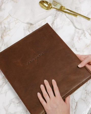 Leather Recipe Binder - by Blue Sky Papers