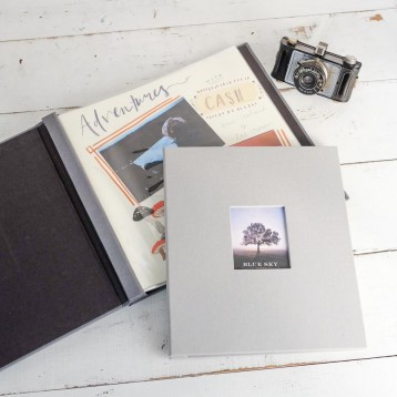 Post-Bound Scrapbook with Clear Sleeves - Simply slip your completed pages into the clear sleeves - by Blue Sky Papers