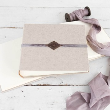 French Provencal Photograph Album - beautiful for weddings - by Blue Sky Papers
