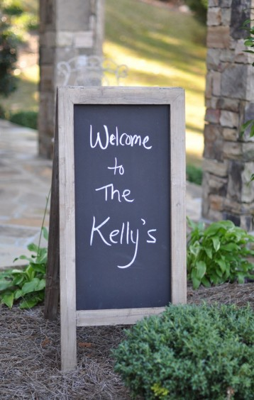 Large Chalkboard A-Frame Sign