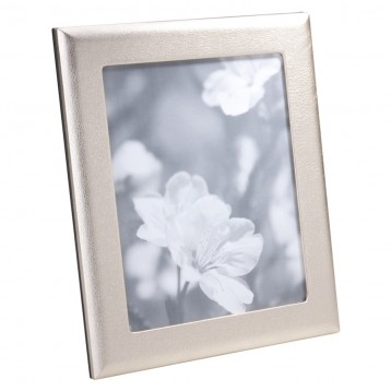 White Gold Metallic Leather Photo Frame - great for every day & weddings-from Blue Sky Papers