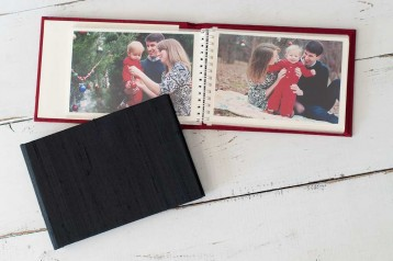 Red Satin Brag Book is perfect for Holiday Photos