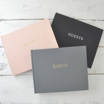 "Guest Sign In Book - 3 ""Guests"" designs - Blue Sky Papers"