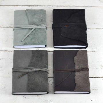 Inside Out Leather and Suede Journal