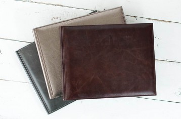 Italian Vintage Leather Guestbooks
