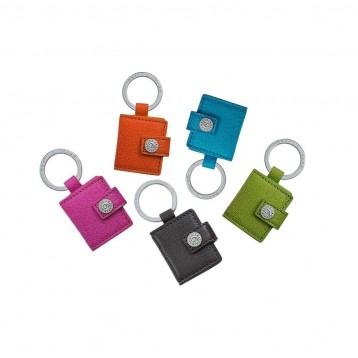 Leather Photo Key Ring - Blue Sky Papers