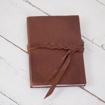 Leather Braided Wrap Journal handmade by Blue Sky Papers