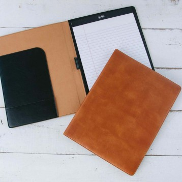 Reclaimed Leather Padfolio - functional & attractive - Blue Sky Papers