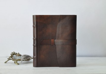 Grande Italian Leather Photo Book