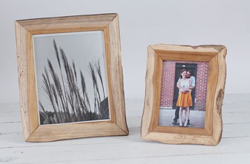 "Redwood Recycled Picture Frames - light wood detail 8x10"" only- 8x10 and 5x7 (out of stock) - by Blue Sky Papers"