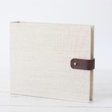 Travelers Photo Book by Blue Sky Papers - linen & leather