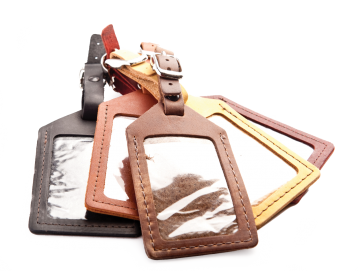 Rustic Leather Luggage Tag