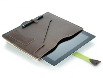 Rustic Leather iPad Portfolio