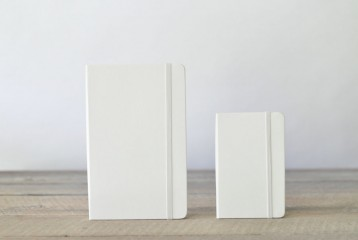 White Blank Moleskine Notebooks