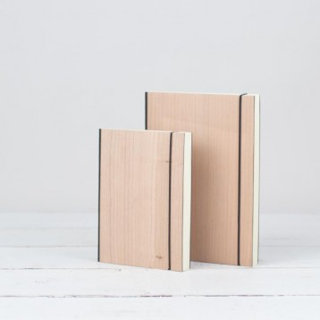 Natural Wood Journal Notebook - 2 sizes, with natural purist wood cover - from Blue Sky Papers