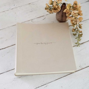 Pearl Leather Keepsake Album - Featuring our 'from this day forward' emblem in Pewter - by Blue Sky Papers