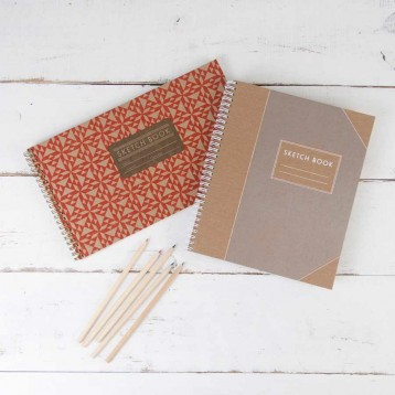 Spiral Sketchbooks - available in two designs! - from Blue Sky Papers