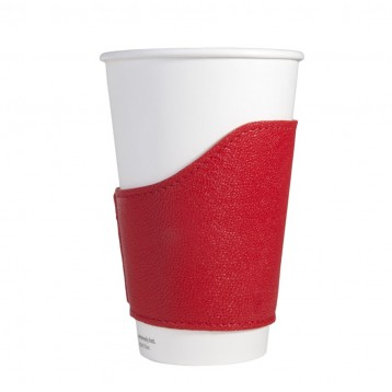 Coffee Cozy or Tea Cozy - Red Leather