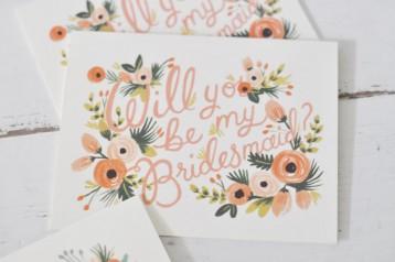 Rifle Bridal Party Invitations - Bridesmaid