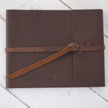 Leather Rustic Guest Book - Rustic Leather - Blue Sky Papers
