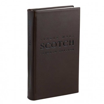 The Complete Guide to Single Malt Scotch- Deep brown leather cover- from Blue Sky Papers