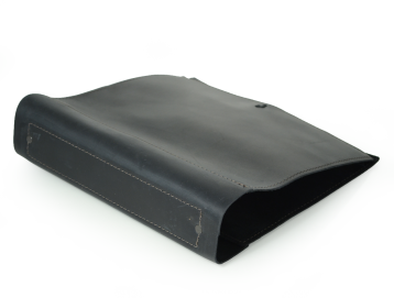 Rustic Soft Leather Binder - Black