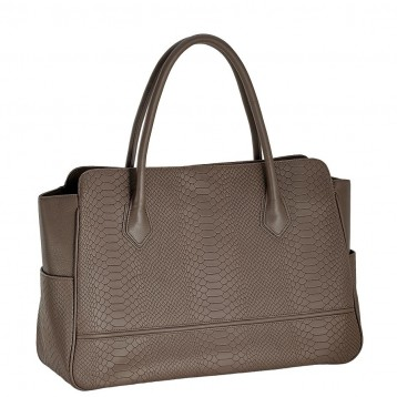 Maureen Python Leather Bag - Taupe - Blue Sky Papers