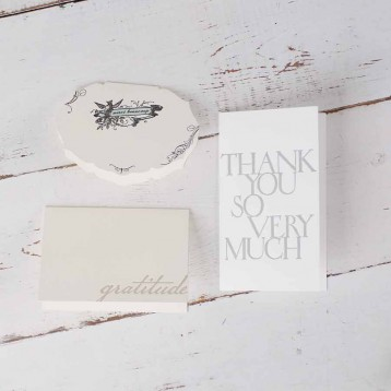Oblation Thank You Card Box - Antique letterpress in 4 gratitude card designs - from Blue Sky Papers