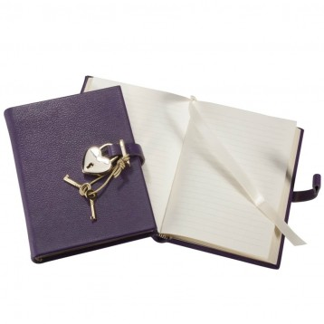 Heart Lock Diary - Purple - Blue Sky Papers