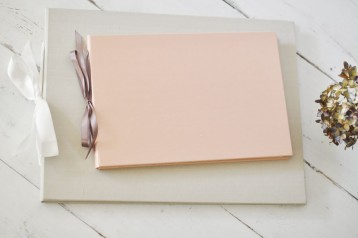 The Artisan Album - Handmade Photo Book - Blush and Champagne- by Blue Sky Papers