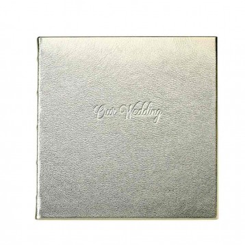 Wedding Journal Keepsake Guestbook - White Gold Metallic- from Blue Sky Papers