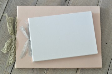 Silk & Lace Wedding Guest Book or Album
