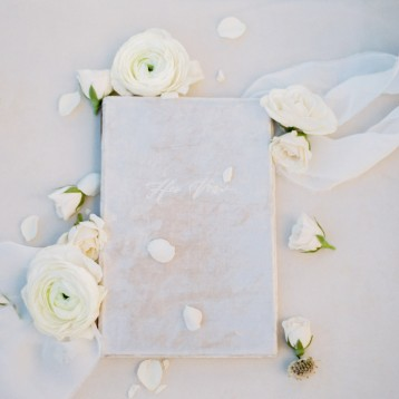 White Velvet Vow Book - Blue Sky Papers