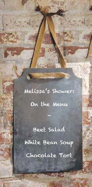 Hanging Black Chalkboard Sign