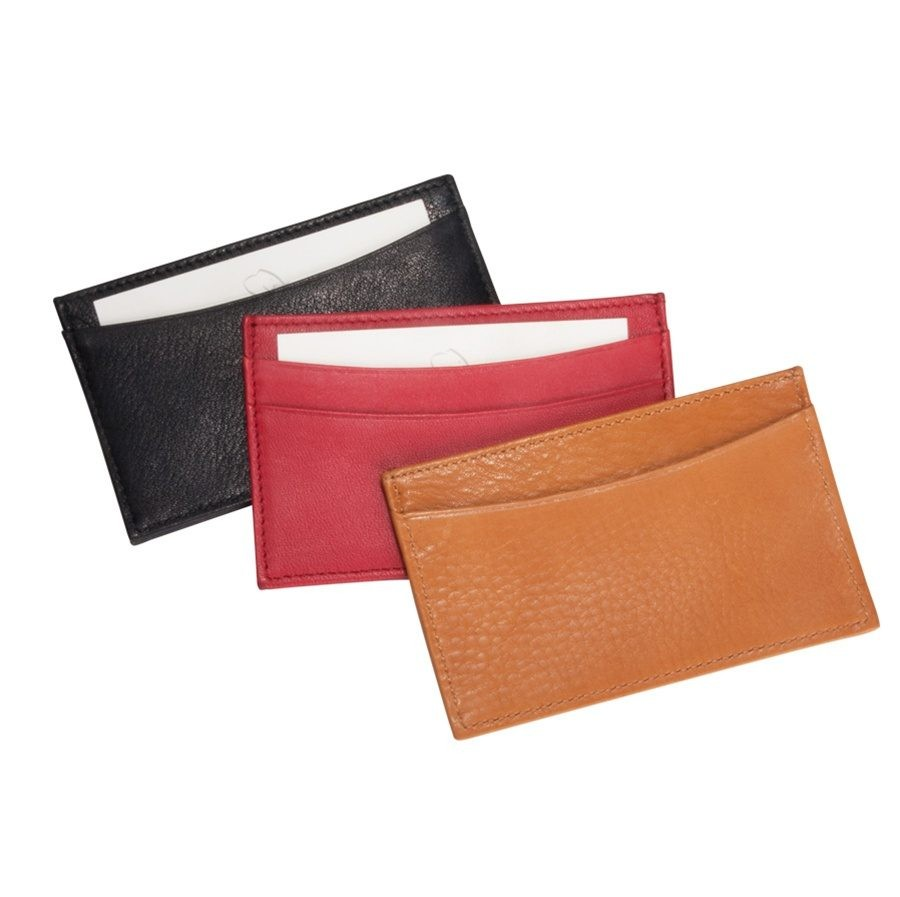 Leather business card holders by blue sky papers for Leather pocket business card holder