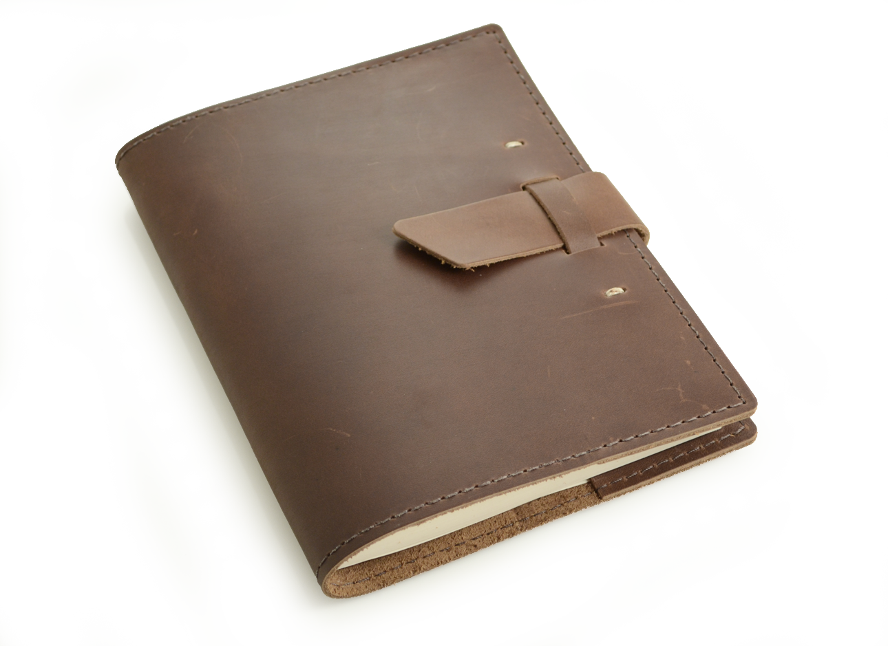 Rustic Leather Refillable Journal - u0026quot;The Switchbacku0026quot; - by Blue Sky ...