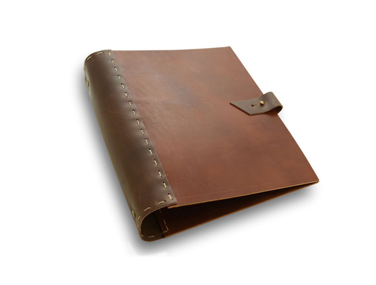 Leather Portfolio With Three Ring Binder