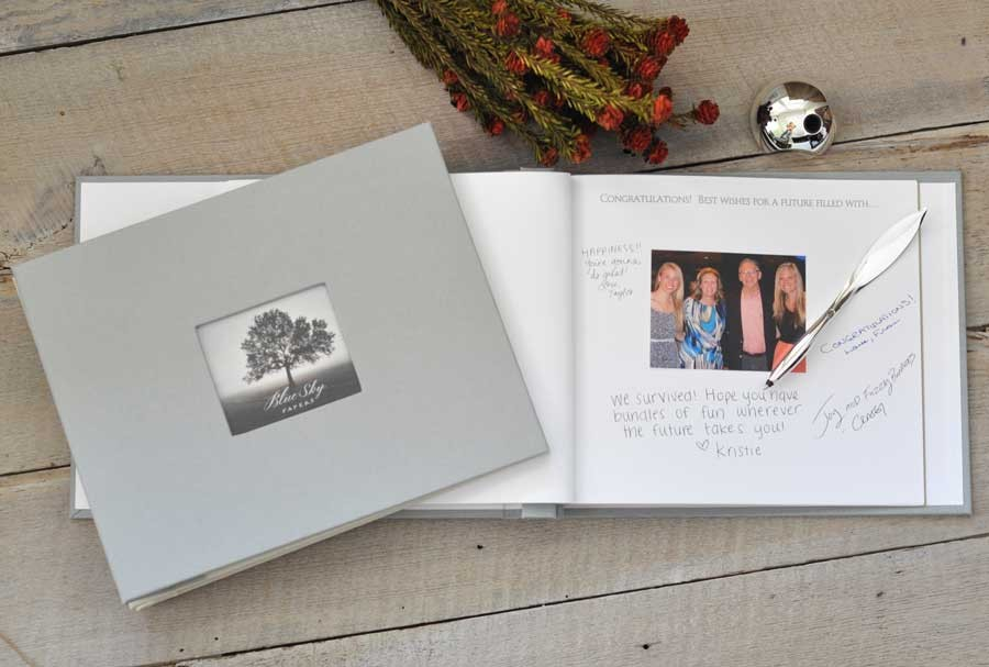 Senior Memory Book Cover Ideas : Graduation keepsake guest book by blue sky papers