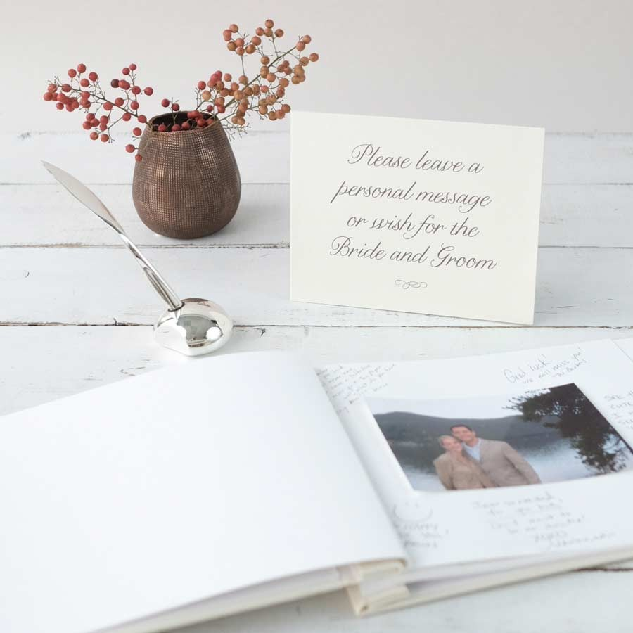 Album Guest Book for Happy time Wedding Gifts Large Wedding Guestbook Leather Photo Album