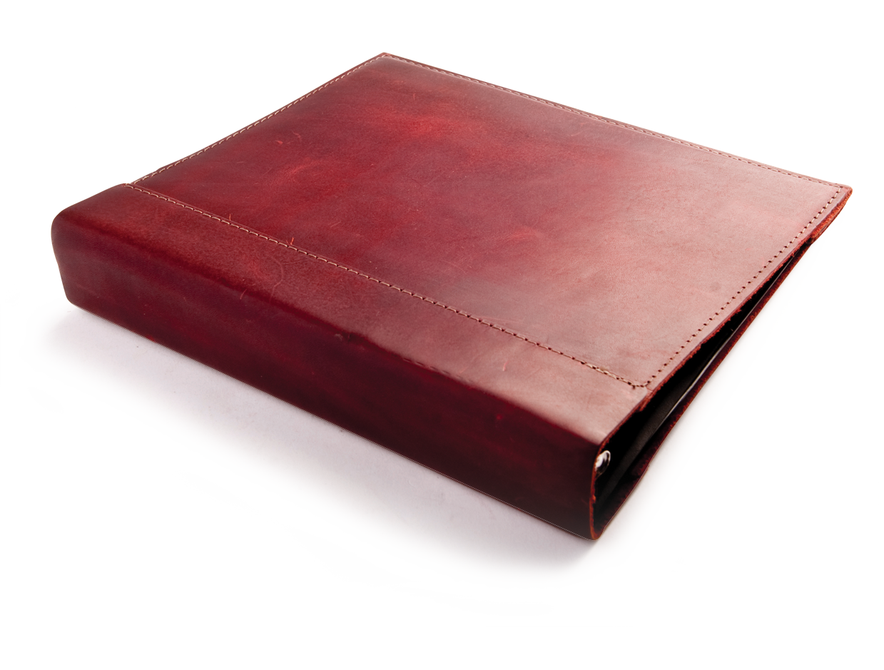 Rustic Leather Binder Cover, the elegant way to get organized- by Blue ...