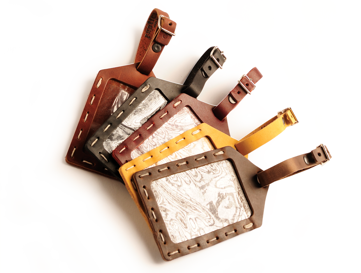 Luggage Tags: Rustic Hand Sewn Luggage Tag, For The Rugged Traveler