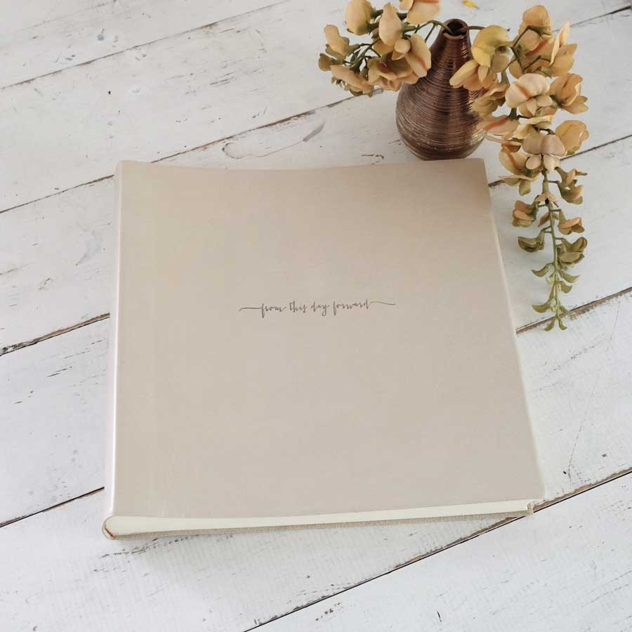 limited edition pearl leather keepsake album by blue sky papers