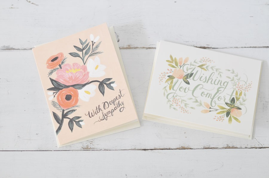 Rifle sympathy cards a hand painted expression of comfort by blue sympathy cards from blue sky papers altavistaventures Choice Image