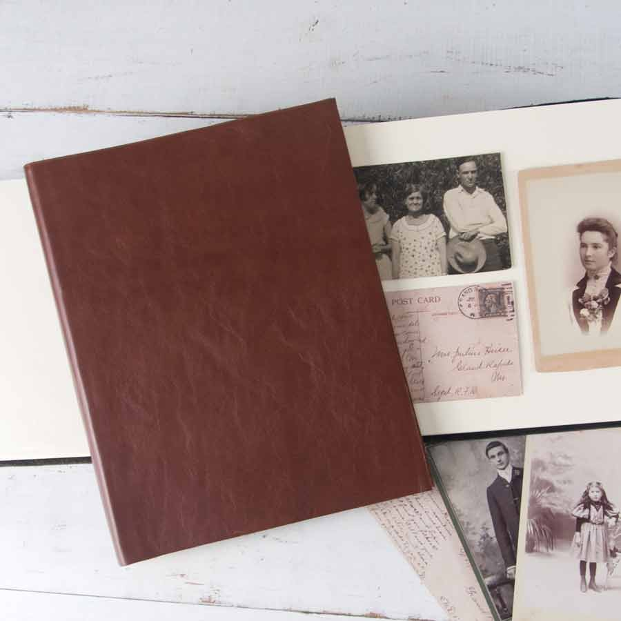 soft leather photo album by blue sky papers