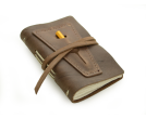 Rustic Leather Golf Log w/ Pocket