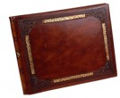Gold Frame Leather Guest Book